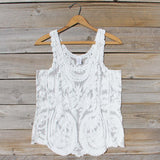 Summer Snow Lace Tank in White: Alternate View #1