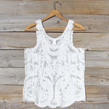 Summer Snow Lace Tank in White: Alternate View #4