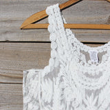 Summer Snow Lace Tank in White: Alternate View #2