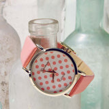 Peach Dots Watch: Alternate View #1