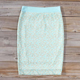 Mint & Lace Pencil Skirt: Alternate View #4