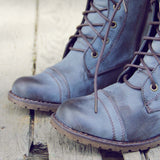 Sweet & Rugged Combat Boots in Brown: Alternate View #2