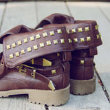 Sweet Studded Motorcycle Boots: Alternate View #3
