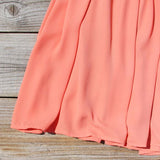 Sweetheart & Mint Dress in Peach: Alternate View #3