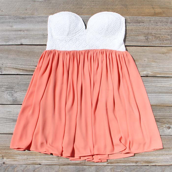 Sweetheart & Mint Dress in Peach: Featured Product Image
