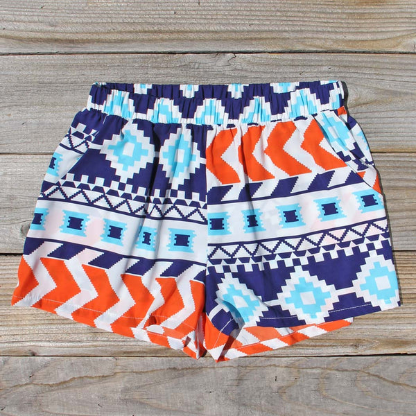 The Billy Native Shorts in Blue: Featured Product Image