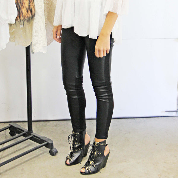 The Ash Leather Leggings: Featured Product Image