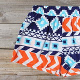 The Billy Native Shorts in Blue: Alternate View #2