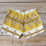 The Billy Native Shorts in Mustard: Alternate View #3