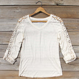 The Maddie Cozy Tee in Cream: Alternate View #1