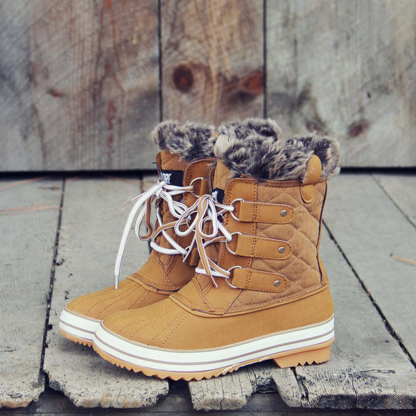 The Snowy Pines Snow Boots: Featured Product Image