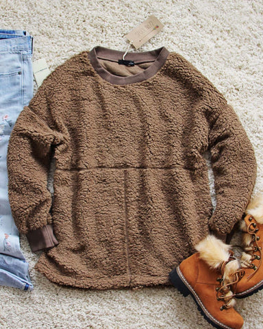 The Teddy Sweatshirt in Firewood