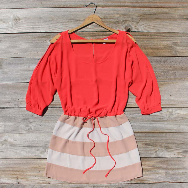 Thundering Waters Dress in Coral: Featured Product Image