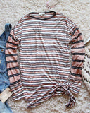 Tie & Stripe Cozy Tee in Desert: Alternate View #1