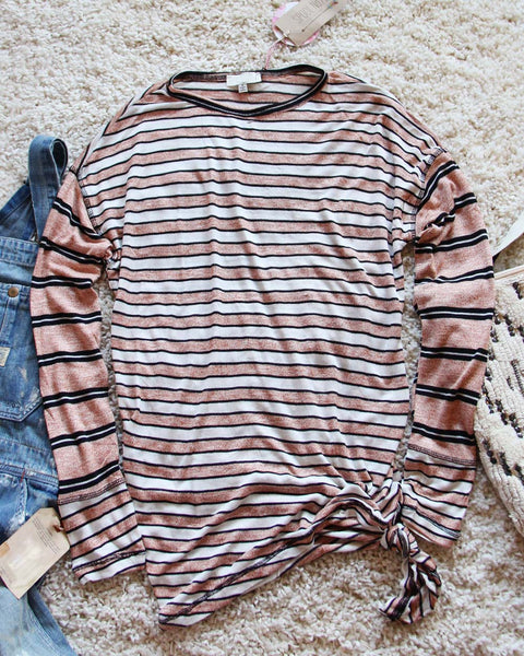 Tie & Stripe Cozy Tee in Desert: Featured Product Image