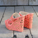 Traveling Sands Wedges in Peach: Alternate View #3