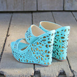 Traveling Sands Wedges in Turquoise: Alternate View #3