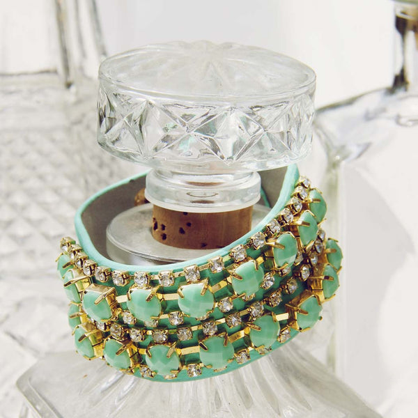 Treasured Stacks Bracelet in Mint: Featured Product Image