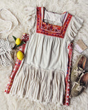 Tulum Embroidered Tunic Dress: Alternate View #1
