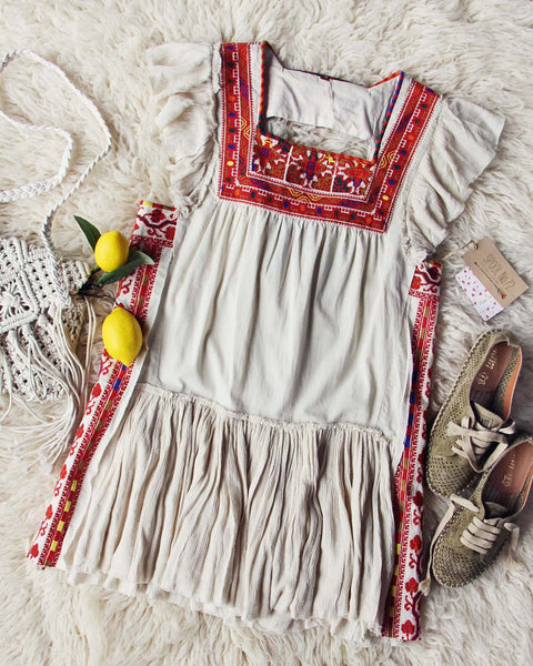 Tulum Embroidered Tunic Dress: Featured Product Image