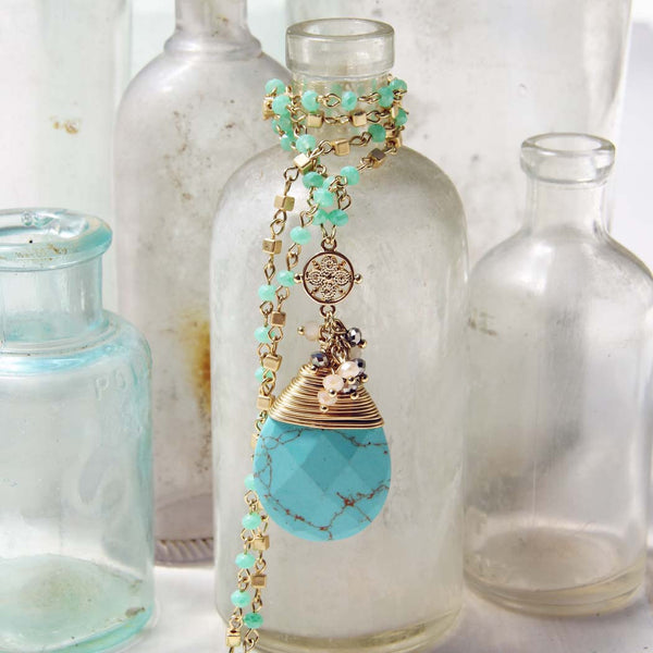 Turquoise Moon Necklace: Featured Product Image