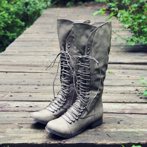 Upper County Boots in Taupe: Featured Product Image