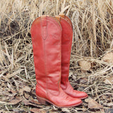 Vintage 70's Sweet Stitch Boots: Alternate View #1