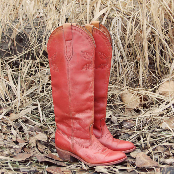 Vintage 70's Sweet Stitch Boots: Featured Product Image