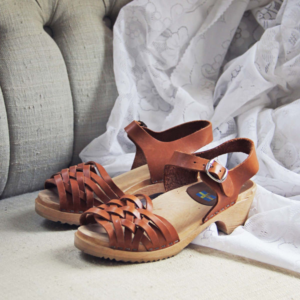 Vintage 70's Woven Sandals: Featured Product Image