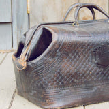 Vintage Native Nights Leather Tote: Alternate View #2