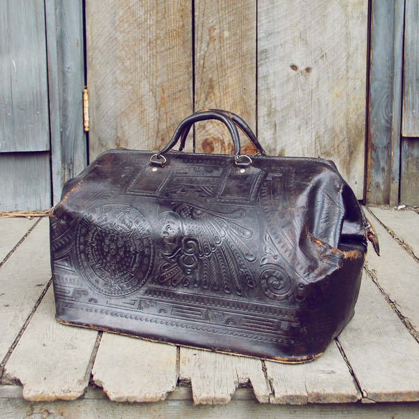Vintage Native Nights Leather Tote: Featured Product Image
