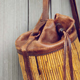 Vintage Leather Bucket Tote: Alternate View #2