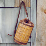 Vintage Leather Bucket Tote: Alternate View #3