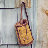 Vintage Leather Bucket Tote: Alternate View #1