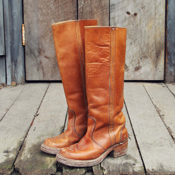 Vintage Honey Campus Boots: Featured Product Image