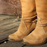 Vintage Suede Stacked Boots: Alternate View #2