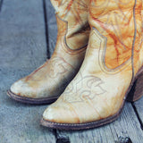 Vintage Capezio Marbled Boots: Alternate View #2