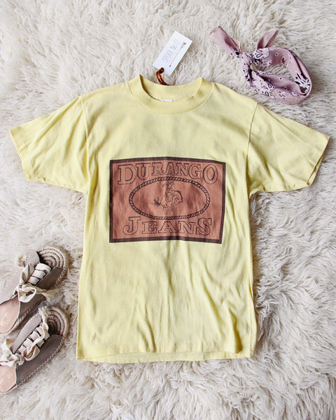 Vintage Durango Jeans Tee: Featured Product Image
