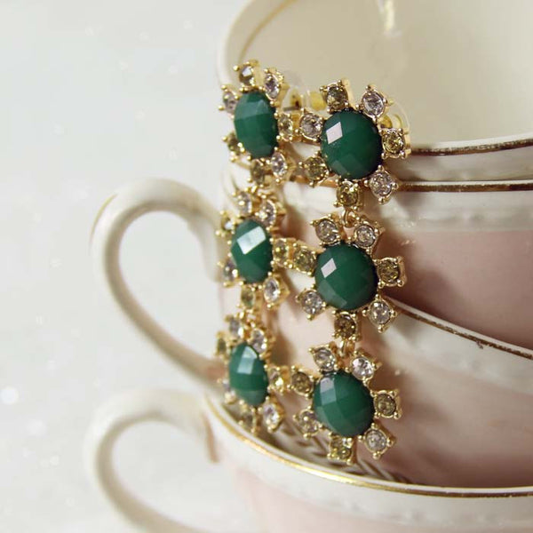 Sparkling Whispers Earrings in Emerald: Featured Product Image