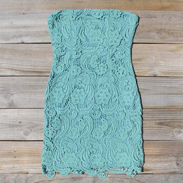 Wild Horses Lace Dress in Sage: Featured Product Image