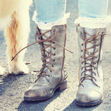 The Aberdeen Studded Combat Boots in Sand: Alternate View #3