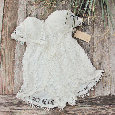 Adobe Sky Romper in White