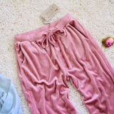 Agave Rose Velvet Joggers: Alternate View #3