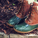 Alpine Pine Duck Boot in Olive: Alternate View #2