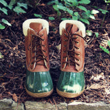 Alpine Pine Duck Boot in Olive: Alternate View #3