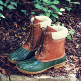Alpine Pine Duck Boot in Olive: Alternate View #1
