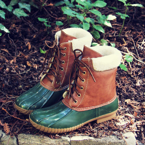 Alpine Pine Duck Boot in Olive: Featured Product Image