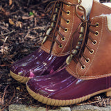 Alpine Pine Duck Boot in Wine: Alternate View #2