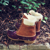 Alpine Pine Duck Boot in Wine: Alternate View #4