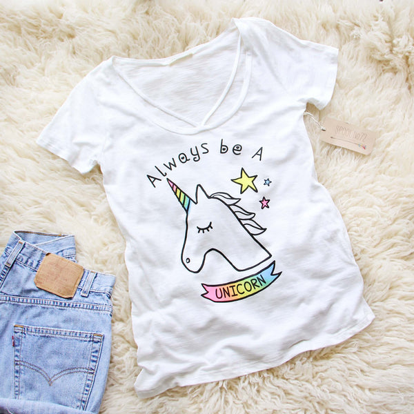Always Be A Unicorn Tee: Featured Product Image